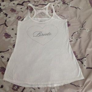 Victoria's Secret bride tank top